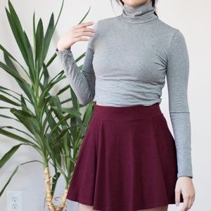 forever 21 turtleneck gray long sleeve crop top